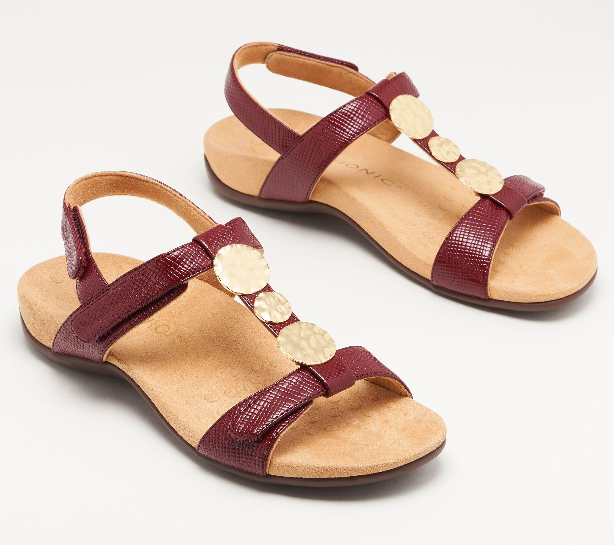 2ee5683597 Vionic Embellished Backstrap Sandals - Farra Lizard - Page 1 — QVC.com