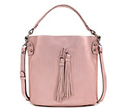 Patricia Nash Leather Embossed Woven Bucket Bag - Otavia - A352167