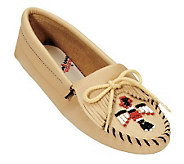 Minnetonka Smooth Leather Moccasins - Thunder bird Softsole - A245568