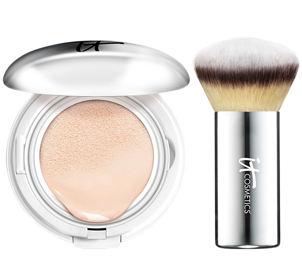 IT Cosmetics CC Veil SPF 50 Foundation Cushion Compact with Brush - Page 1 — QVC.com
