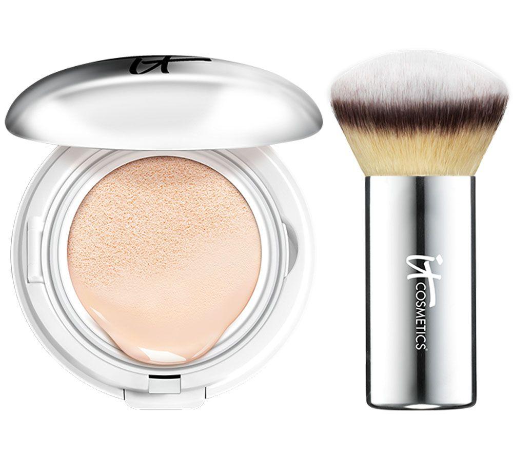 It Cosmetics Cc Veil Spf 50 Foundation Cushion Compact With Brush