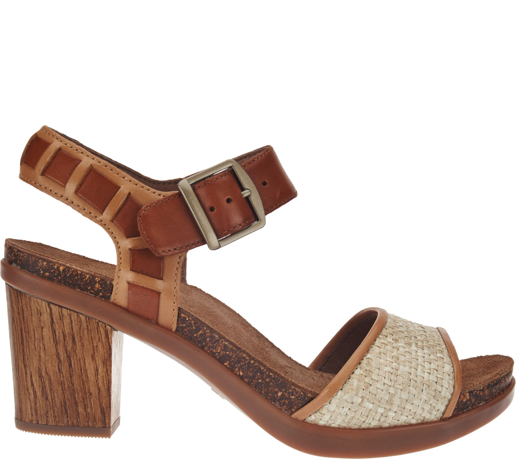 3cbb640dcde Dansko Leather Sandals with Adj. Ankle Strap - Debby - Page 1 — QVC.com