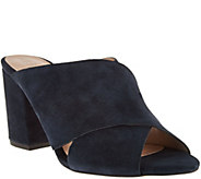 Sole Society Suede Peep-Toe Mules - Luella - A279868