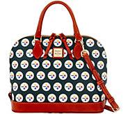 Dooney & Bourke NFL Steelers Zip Zip Satchel - A285768