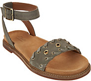 Clarks Artisan Suede Ankle Wrap Sandals - Corsio Amelia - A290068