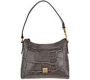 Dooney & Bourke Croco Leather Large Cassidy Hobo Handbag - A300768