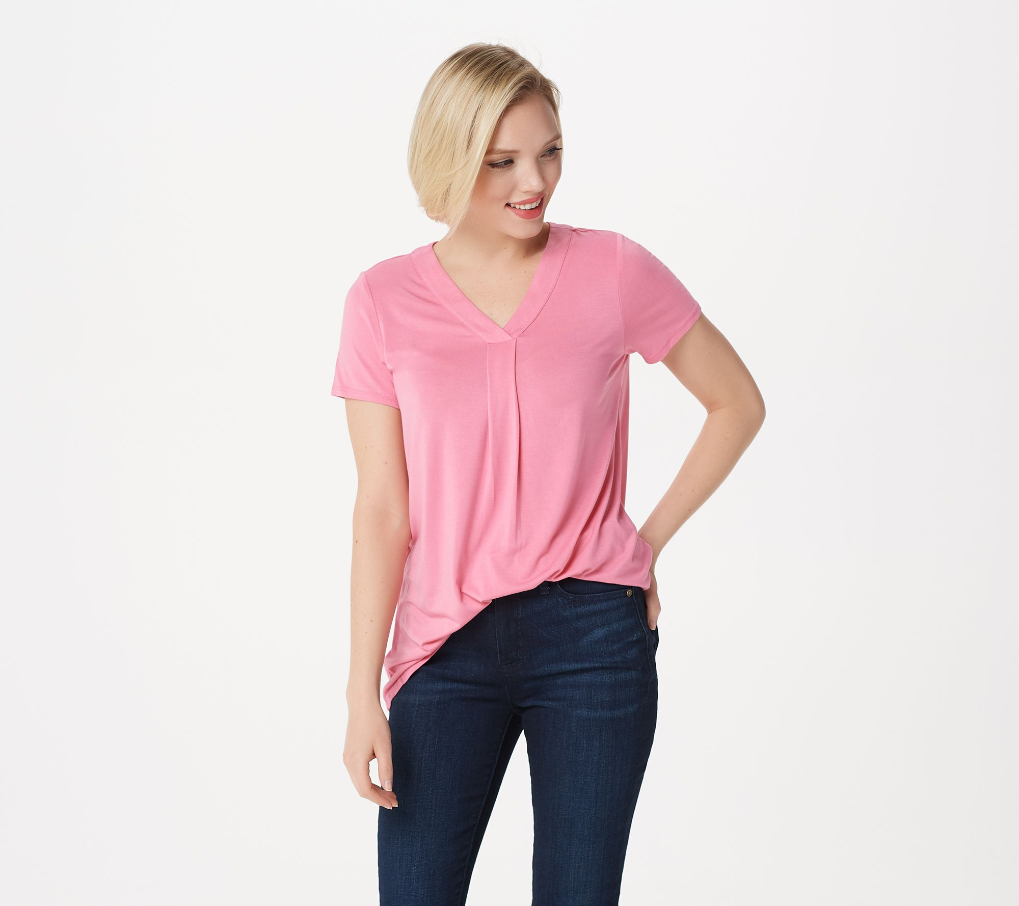 ff4d6f91c282 Laurie Felt Short Sleeve V-Neck T-Shirt - Page 1 — QVC.com