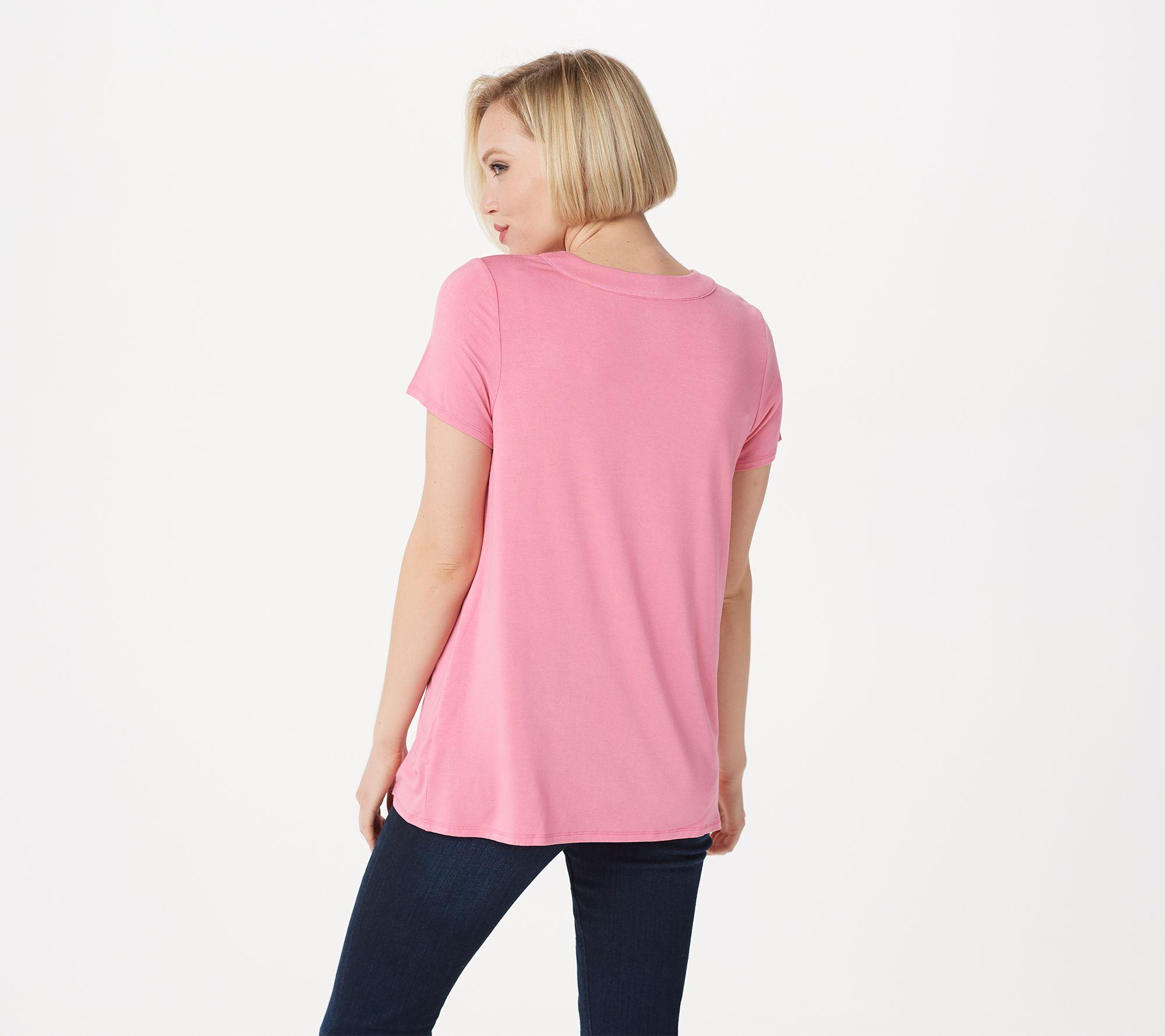 4017b58cba702 Laurie Felt Short Sleeve V-Neck T-Shirt - Page 1 — QVC.com