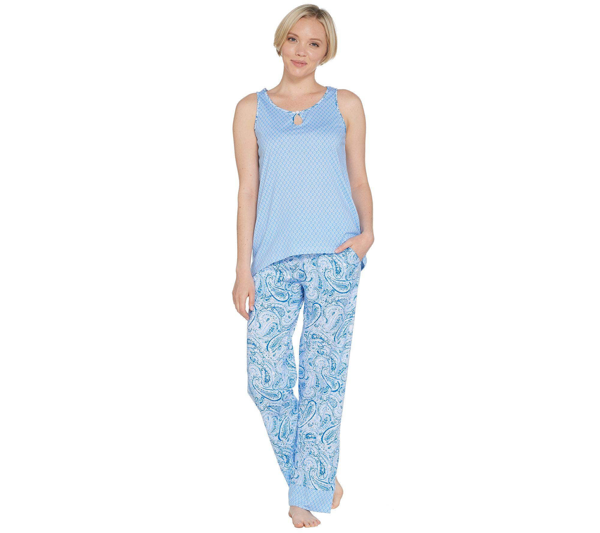 015652598e Carole Hochman Geo   Paisley Cotton Jersey 3-Piece PJ Set - Page 1 ...