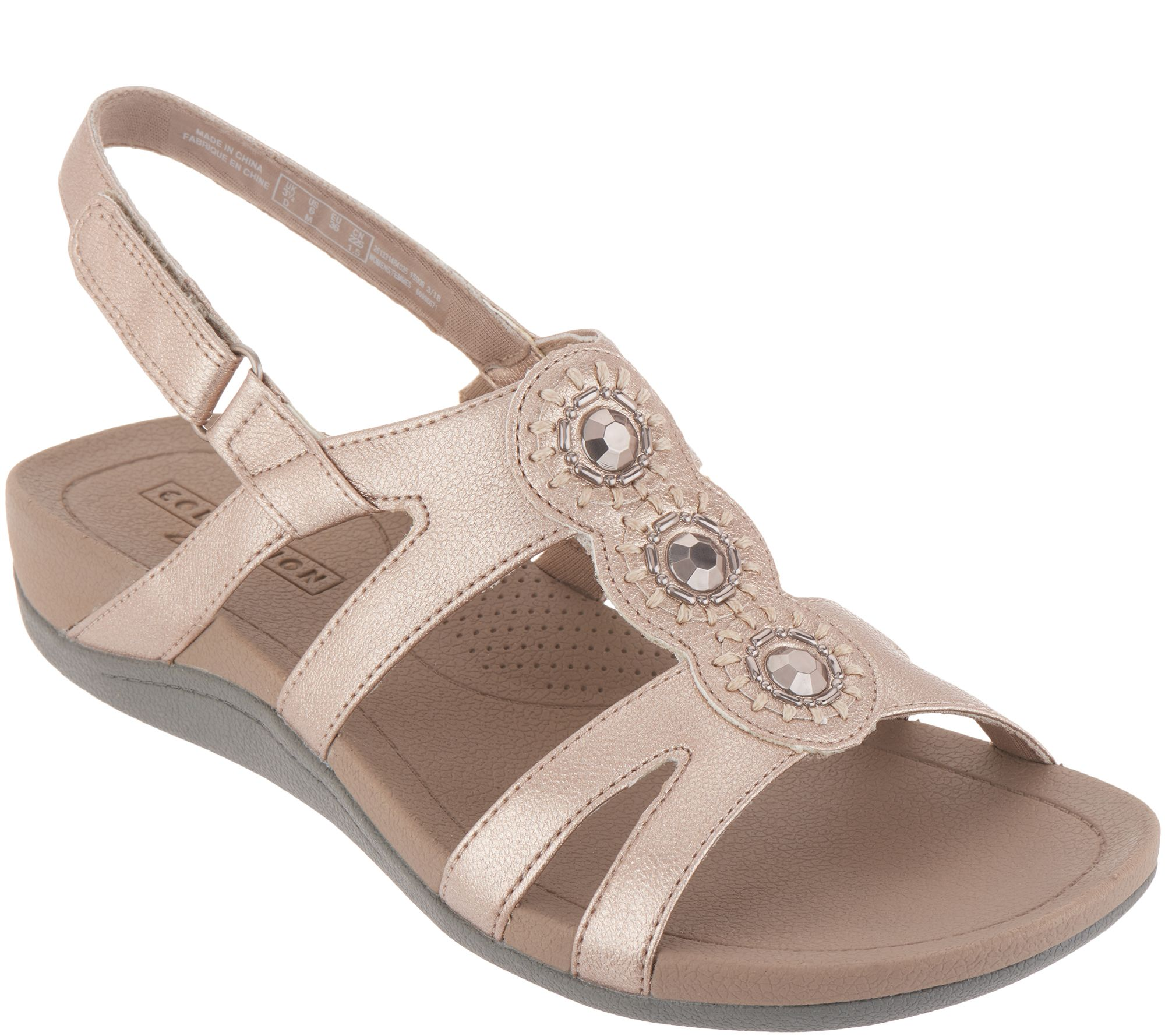 a1d06ab6d73 Clarks Embellished Adjustable Sandals - Pical Serino - Page 1 — QVC.com