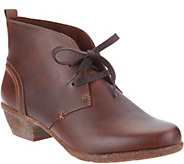 As Is Clarks Artisan Leather Lace-up Ankle Boots- Wilrose Sage - A308168