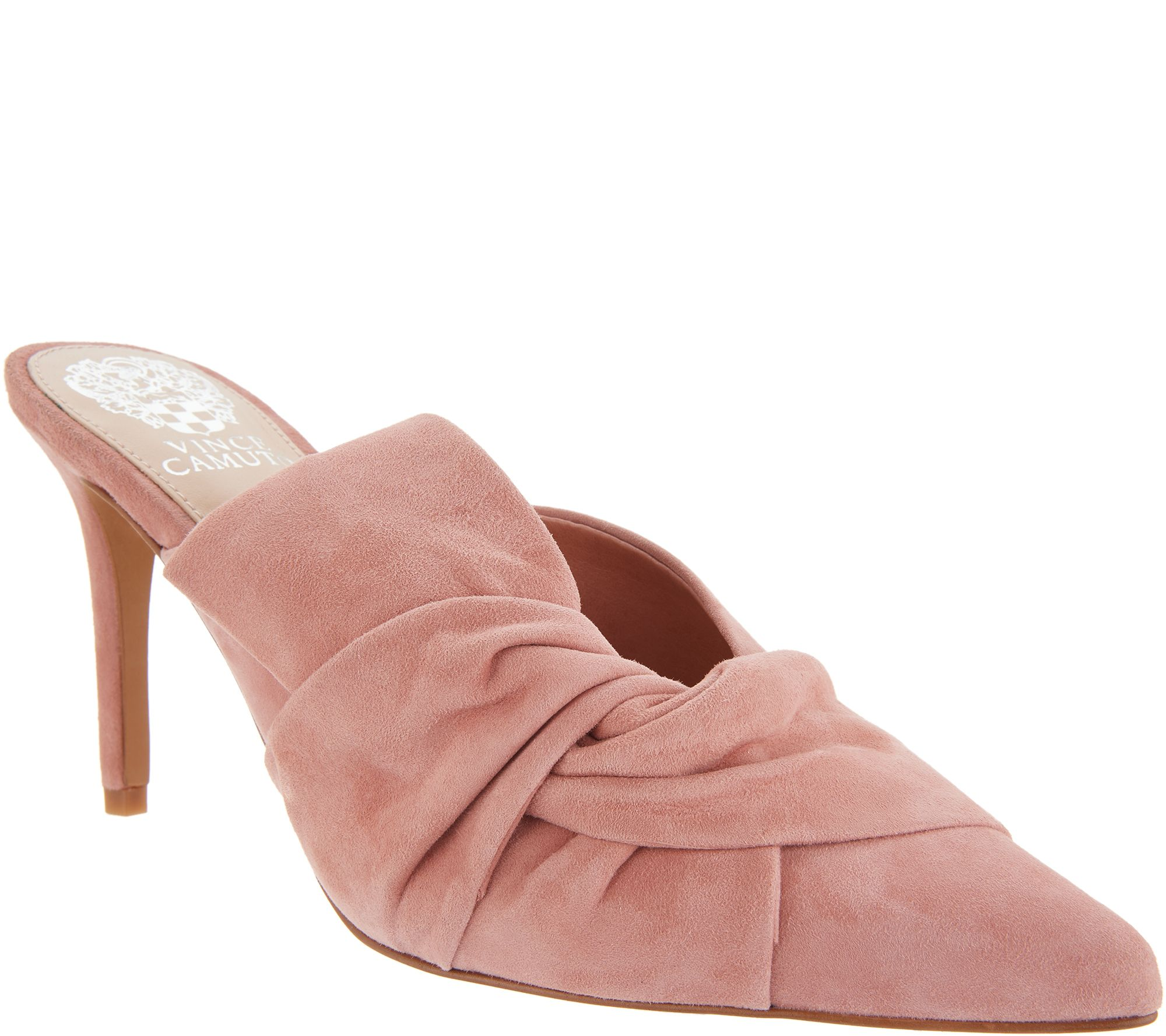 2aa8aa90c04 Vince Camuto Suede Slip-On Heeled Mules - Amillada - Page 1 — QVC.com