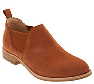 Clarks Leather Slip-On Booties- Edenvale Page - A349068