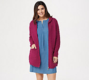Aran Craft Merino Wool Zip-Front Cardigan with Back Pleat - A351068