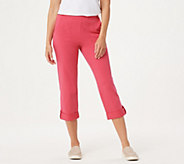 Denim & Co. Active French Terry Cuffed Crop Pants - A354168