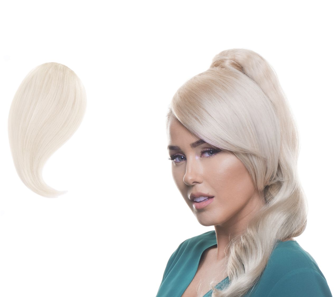Bellami Side Swept Style Clip-In Seamless Bangs - Page 1 — QVC.com 17dae34b22
