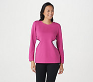 Denim & Co. Active French Terry Long-Sleeve Color-Block Top - A366968