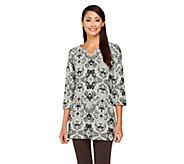 Liz Claiborne New York Floral Jacquard Knit Tunic - A258169