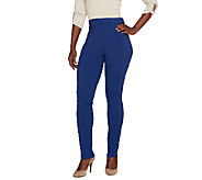 Susan Graver Weekend Cotton Spandex Leggings - Petite - A260369