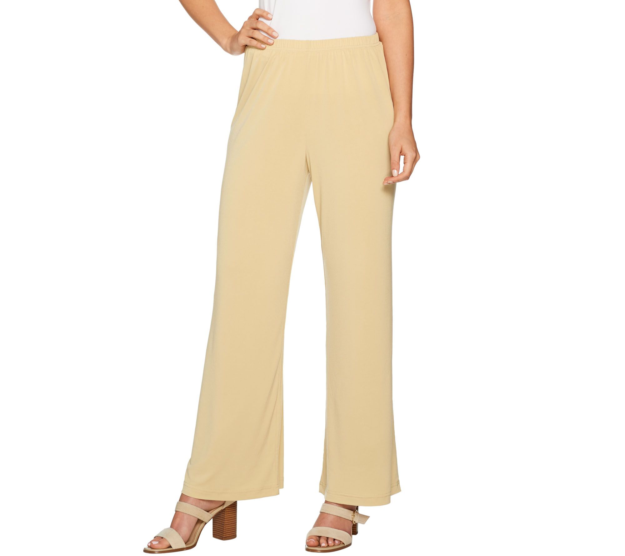adfaf157bb9 Joan Rivers Petite Length Pull-on Jersey Knit Palazzo Pants - Page 1 ...