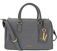 Isaac Mizrahi Live! Signature Saffiano Leather Satchel Handbag - A280969