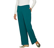 Susan Graver Lustra Crepe Pull-On Wide Leg Pants - A294869