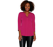 Every Day by Susan Graver Liquid Knit Top with Buttons - A298469