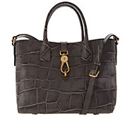 Dooney & Bourke Croco Embossed Leather Large Amelia Tote Handbag - A300769