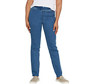 Denim & Co. Petite Modern Denim Slim Straight Pull-on Jeans - A309769