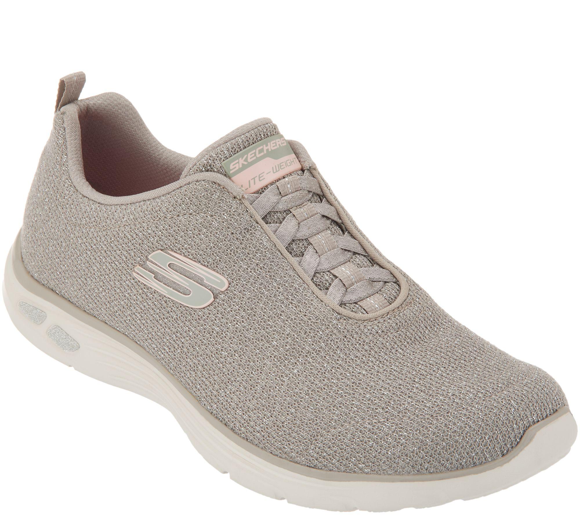 Skechers Sparkle Bungee Slip-On Shoes - Empire D'Lux — QVC.com