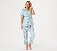 Beauty Sleep by BedHead Short Sleeve Notch Collar PJ Set - A346769