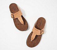 Merrell Leather Thong Sandals - Around Town Luxe Post - A350669