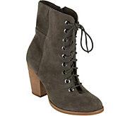 MIA Shoes Leather Granny Boots - Fontana - A363369