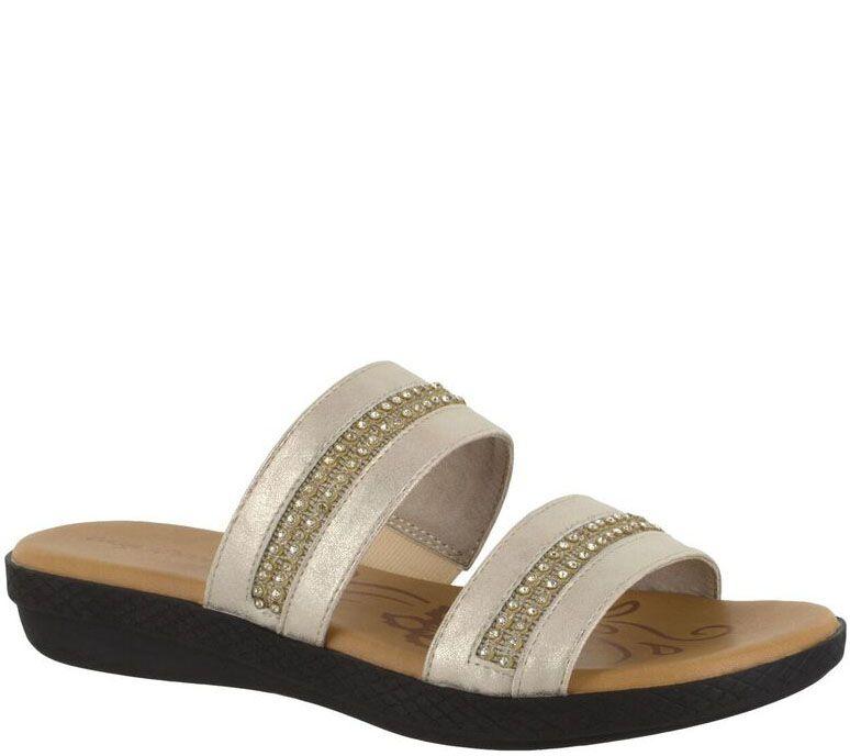 d573567504a Easy Street Slide Sandals - Dionne - Page 1 — QVC.com