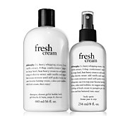 philosophy fresh cream shower gel & body spritzduo - A448869