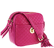 Isaac Mizrahi Live! Bridgehampton Quilted Leather Camera Bag - A238270