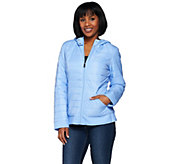 Liz Claiborne New York Quilted Zip Front Jacket - A274770