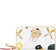 Dooney & Bourke MLB Pirates Zip Around Phone Wristlet - A280870