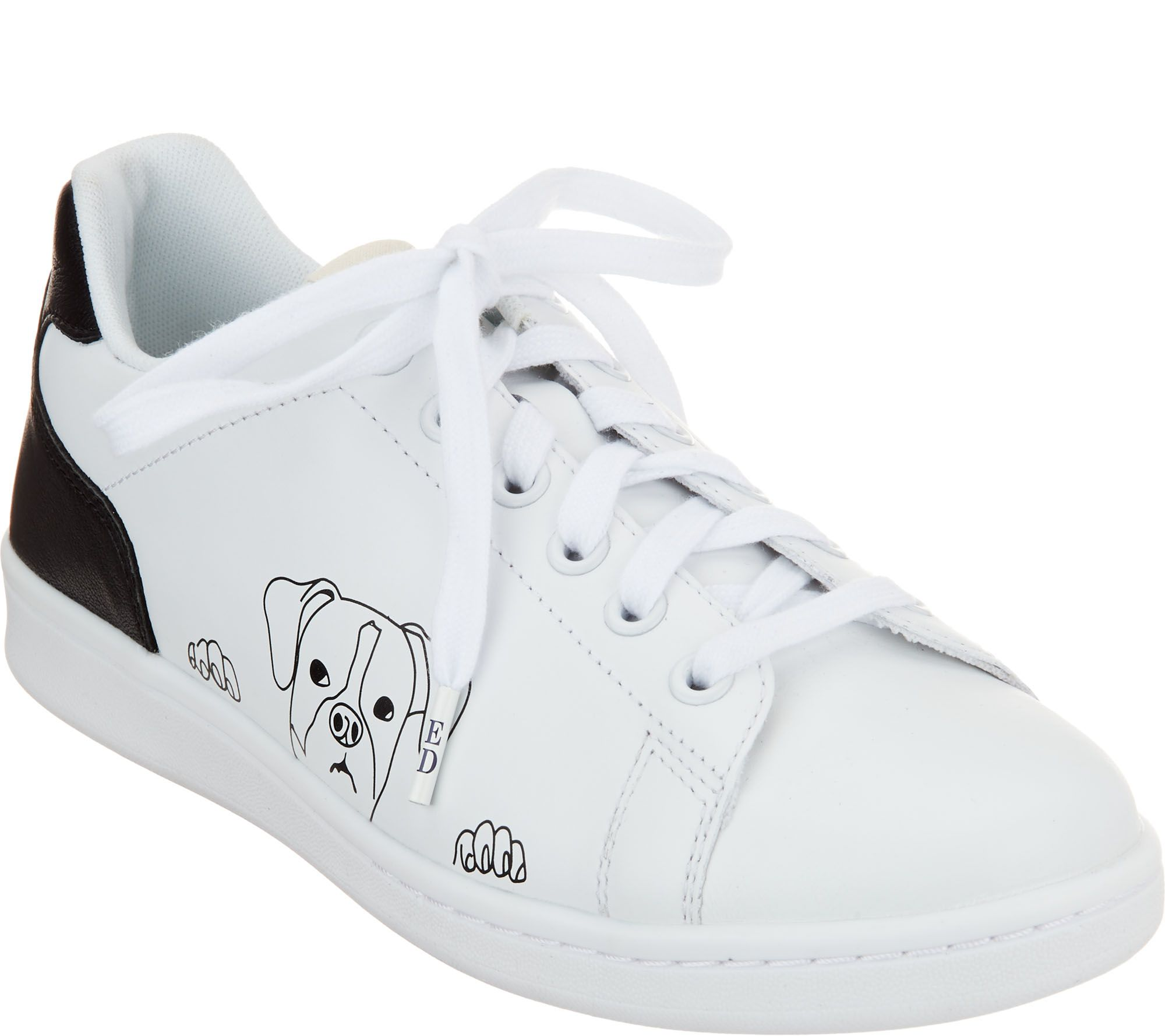 ee83f1cde93cbf ED Ellen DeGeneres Leather Graphic Sneakers - Chapanima - Page 1 — QVC.com