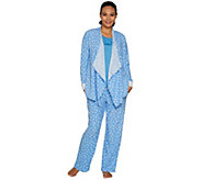 Carole Hochman Tall Stretch Waffle Fleece 3-Piece Pajama Set - A294070