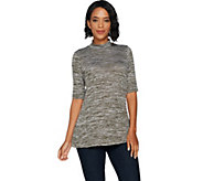 Lisa Rinna Collection Mock Neck Knit Tunic - A294170