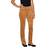 Denim & Co. Petite Smooth Waist Stretch Corduroy Pull-on Pants - A294470