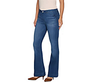 Laurie Felt Tall Silky Denim Flare Pull-On Jeans - A295670