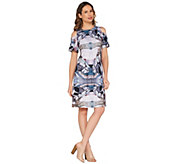 Attitudes by Renee Regular Como Jersey Printed Dress - A301370
