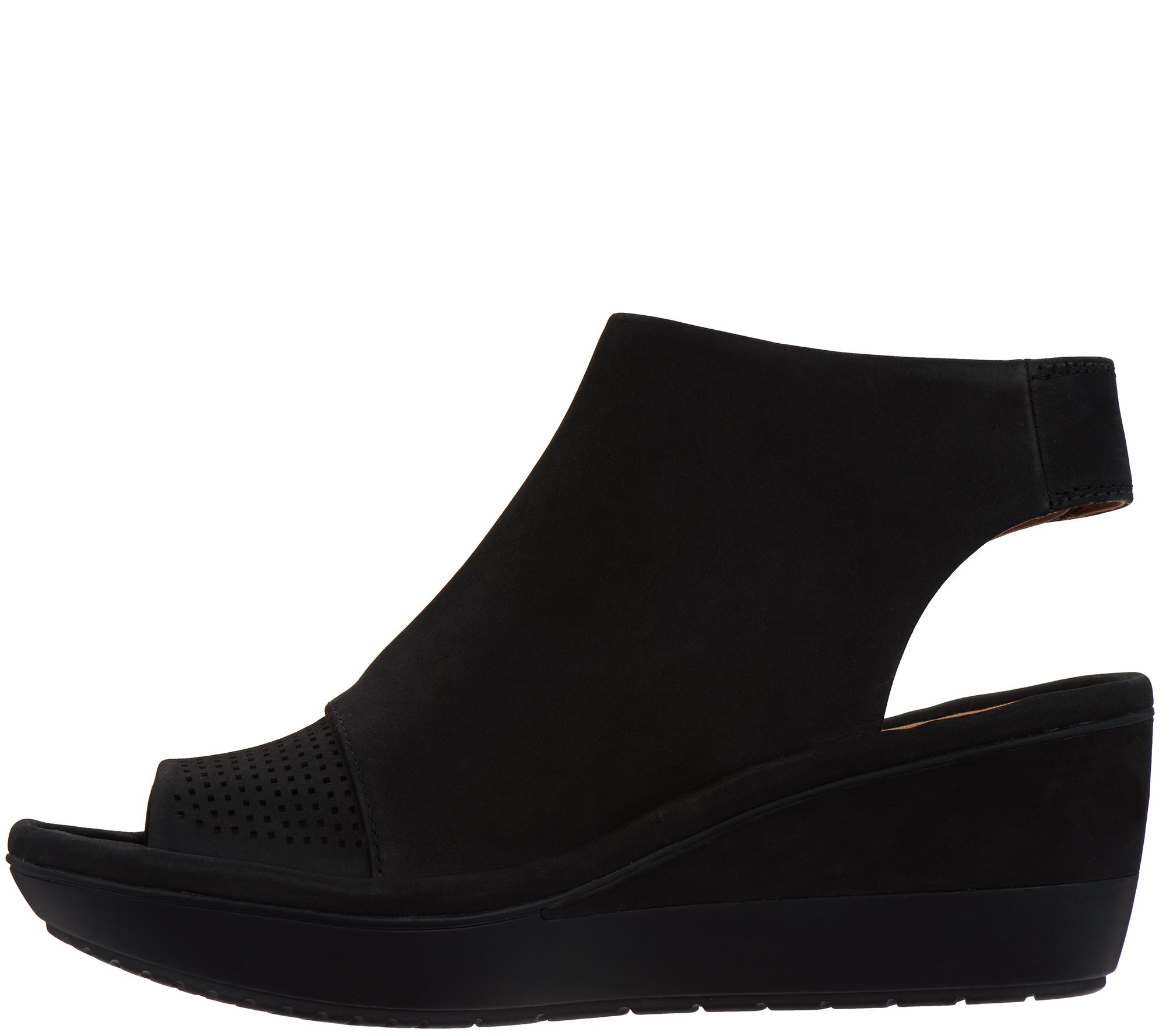 229c30e0a213 Clarks UnStructured Peep Toe Wedge Sandals - Wynnmere Abie - Page 1 —  QVC.com