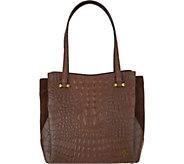 As Is orYany Embossed Leather Shoulder Bag- Alyssa - A304270