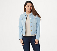 Isaac Mizrahi Live! TRUE DENIM Jean Jacket - A306370