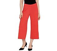 Isaac Mizrahi Live! Regular Pebble Knit Culotte Pants - A306570