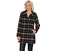 As Is Joan Rivers Perfectly Plaid Swing Coat with Lining - A308870