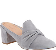 Vionic Suede Knotted Heeled Mules - Presley - A309070